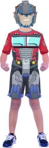 Fantasia Transformers Optimus  Otimus Máscara Infantil Nova