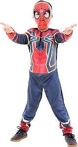 Fantasia Homem Aranha De Ferro Longa Luxo Guerra Infinita