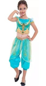 Fantasia Jasmine Disney Filme Aladdin Infantil Princesa