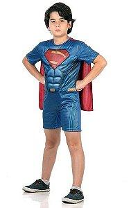 Fantasia Super Homem Superman Curta Infantil Com Músculo