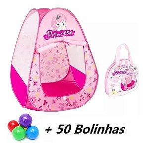 Toca Barraca Princesa Infantil Menina C/50 Bolinhas Colorida