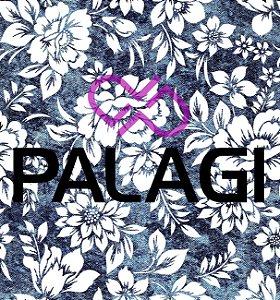 Tecido Estampado Metro Para Máscara Jeans Floral Azul