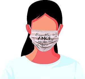 Máscara Tecido Estampada Reutilizável Frases Otimismo Kit 7 Peças