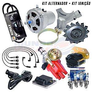 Kit Alternador 55ah + Ignição Eletrônica Fusca Bras Completo