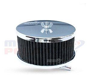 Filtro De Ar Esportivo Fusca Ar Carburação Simples Preto