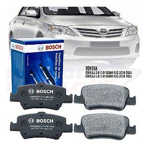 Jogo Pastilha Freio Traseira Bosch Toyota Corolla 2008/2015