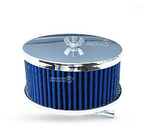 Filtro De Ar Esportivo Fusca Ar Carburação Simples Azul