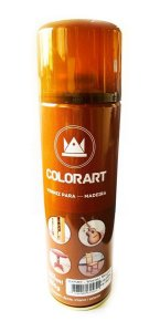 Spray Verniz Mogno Para Madeira Colorart 300ml