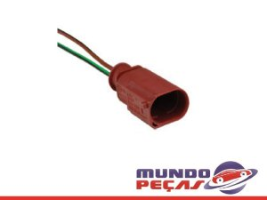 Chicote Aux. Compressor do Ar Condicionado Fox/vw - 2 Vias - Macho