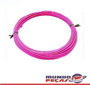 Fio Cabinho Flexível Cobre 0,35mm Rosa Tc Cabos