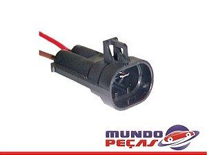 Chicote Ventoinha Linha Fiat Com Fio 2,50mm - 2 Vias - Macho