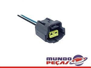 Chicote Sensor de Temperatura Agua Ford Ka Fiesta Courrier - 2 Vias - Fêmea
