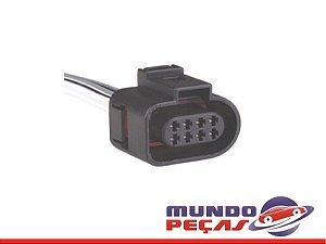 Chicote Motor Trava Elétrica Dianteira Vw Up - 8 Vias - Fêmea - Uni
