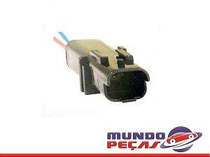 Chicote do Sensor de Temperatura Linha Fiat - 2 Vias - Macho