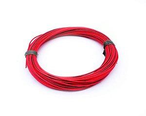 Fio Cabinho Flexível Listrado Vermelho/Preto 1,00mm Cobre TC CABOS