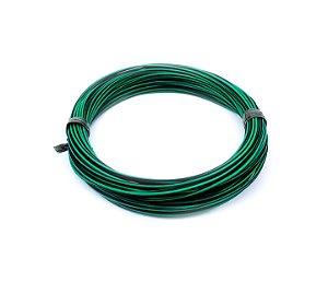 Fio Cabinho Flexível Listrado Verde/Preto 1,50mm Cobre TC CABOS