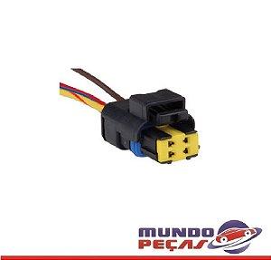 Chicote do Sensor Temperatura Fiat Linha Sigma - 4 Vias - Fêmea - Uni
