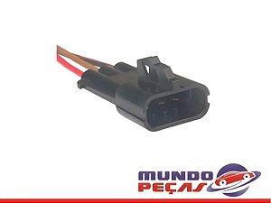 Chicote de Interligação do Motor de Partida Corsa - 3 Vias - Macho