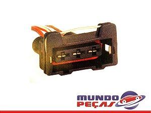 Chicote de Motor do Ventilador do Radiador Golf Polo Passat Audi Cordoba Ibiza 94 98 - 3 Vias - Fêmea