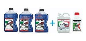 Kit Sistema De Arrefecimento Koube 3 Aditivos Agua Limpa Radiador