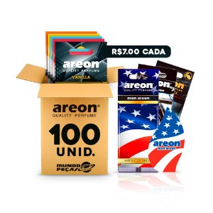 Aromatizante Automotivo Areon 100 UNIDADES