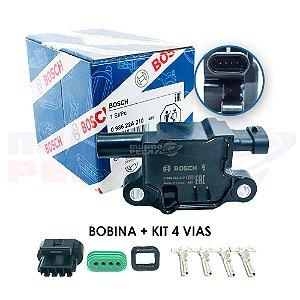 Bobina De Ignição Bosch - Onix Prisma Camaro + kit 4 vias