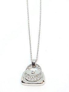 Corrente em prata 925 com pingente da fortuna