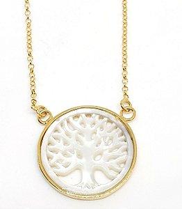 Corrente Arvore da Vida em prata 925 e banho de ouro amarelo
