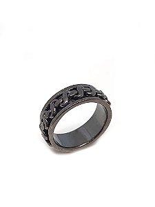 Anel em prata 925 com rodio negro