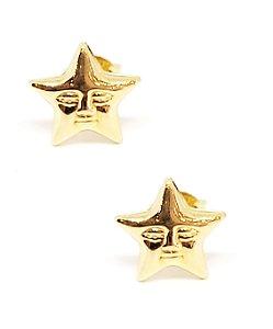 Brinco Ouro 18k amarelo modelo estrela