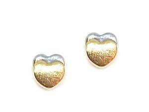 Brinco Baby em Ouro 18k modelo coração