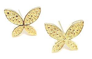 Brinco em ouro amarelo 18k modelo borboleta