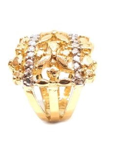 Anel de ouro amarelo e ouro branco