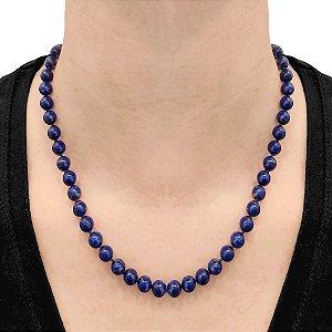 Colar de Bolas Lápis Lazuli natural