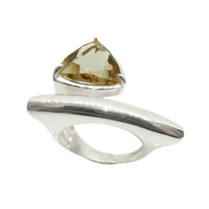 Anel de Prata 925 com Cristal