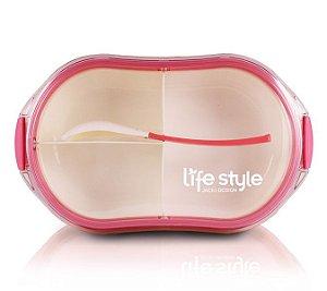 Pote Marmita Lifestyle com 3 Compartimentos 1200 ml Jacki Design