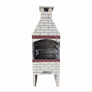 Churrasqueira Realy Refratária Tijolinho 55 cm - Marfim