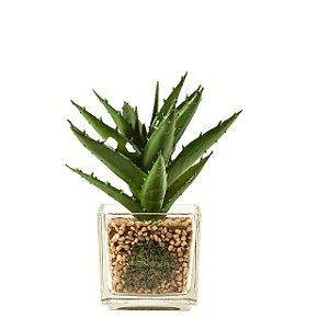 Flor artificial suculenta c/ vaso m2