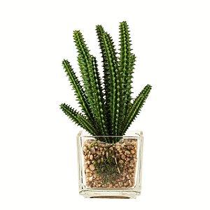 Flor artificial suculenta c/ vaso m3