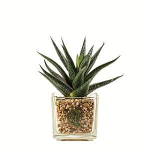 Flor artificial suculenta c/ vaso m4
