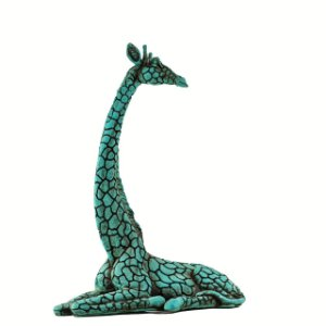 Girafa sentada média