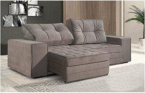 Sofá Beneton retrátil e reclinável 3 lugares