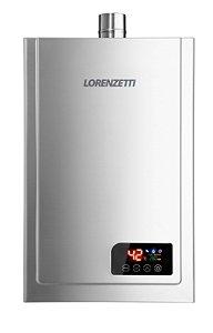 Aquecedor a Gás Lorenzetti LZ 2300DE-I GN - 23L/Min Inox Bivolt