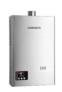 Aquecedor a Gás Lorenzetti LZ 1600D-I GN - 15L/Min Inox Bivolt