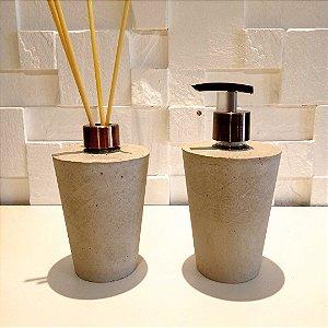 kit banheiro de concreto