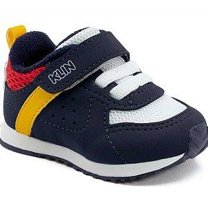 Tênis Klin Mini Walk Infantil Masculino Cor Marinho/Vermelho/Royal