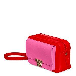 Bolsa Petite Jolie Pop Cor Vermelho/Rosa Neon