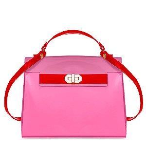 Bolsa Petite Jolie Paris Cor Vermelho/Rosa Neon