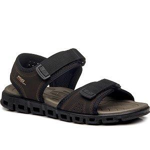 Sandália Pegada Em Microfibra Masculino Cor Marrom