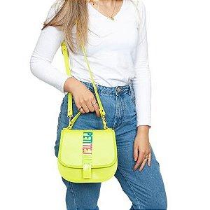 Bolsa Petite Jolie Saddle Cor Verde Abacate/Colorido